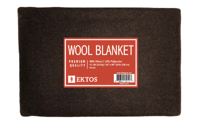 90% Wool Blanket Brown